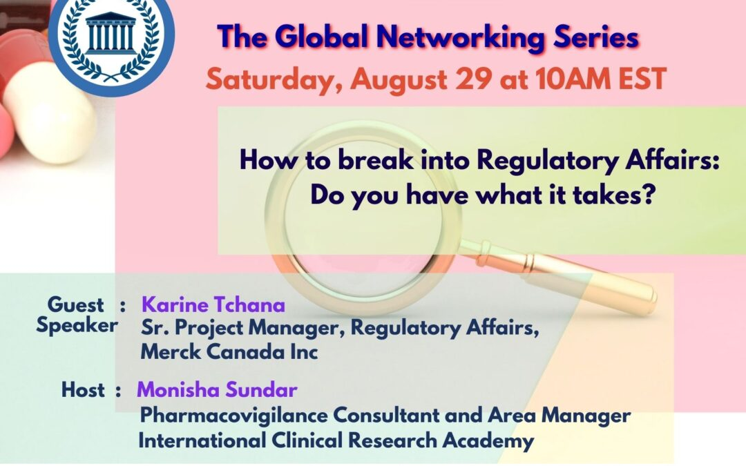 Pharma Regulatory Affairs Jobs – How to break in – Global networking event. Talk to an industry expert in Regulatory Affairs