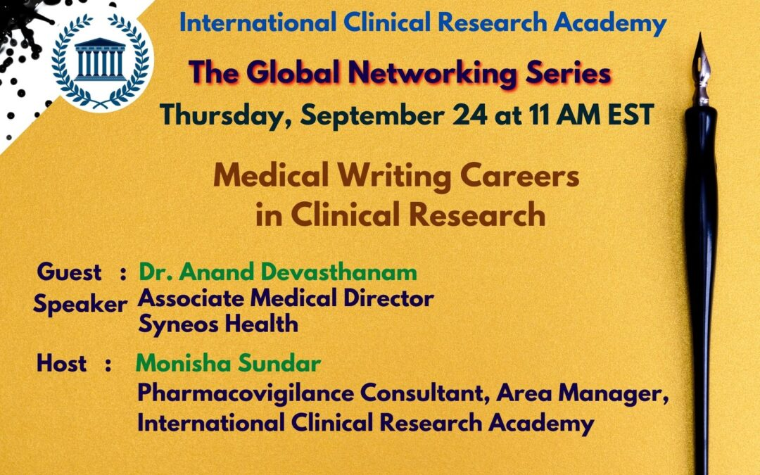 Unfolding all of your opportunities: Medical Writing Careers in the Clinical Trials Industry & how to get-in