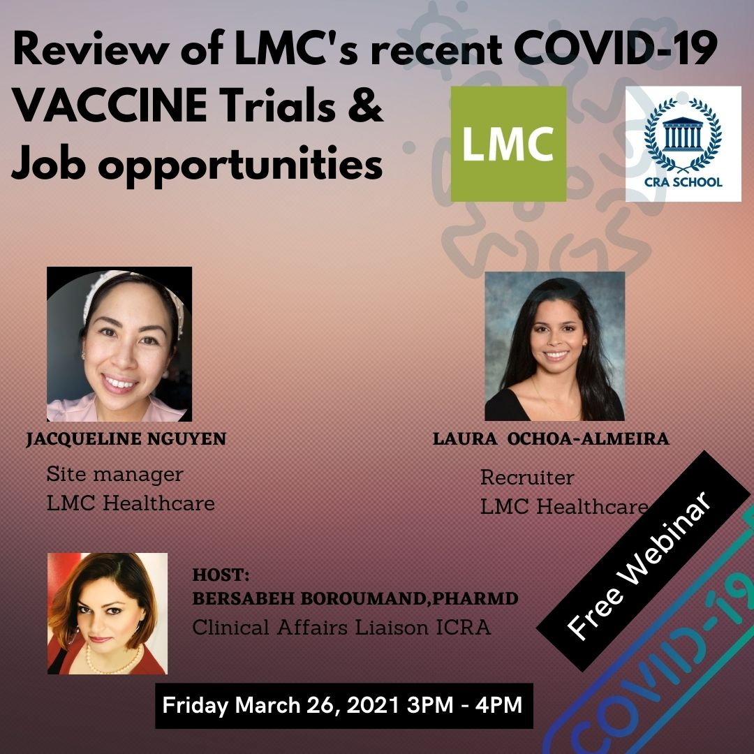 LMC Manna Research is a leading clinical trial company. New vaccines require 40.000 participants vs only 4.000 for drug trials. This means a need for a lot of new clinical trials sites & new staff. Join our Virtual Career event to learn more about these career opportunities directly from the LMC experts. Register here: https://bitly/3bWDIPL, It is free.